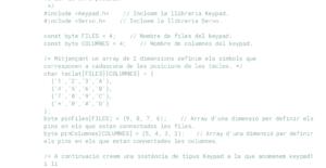 programa IDE arduino